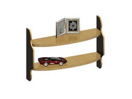 Solid Wood Console Table 3d model