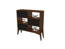 Living Room Show Shelf 3d model