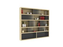 Wall Cabinet Bookshelf 3d model