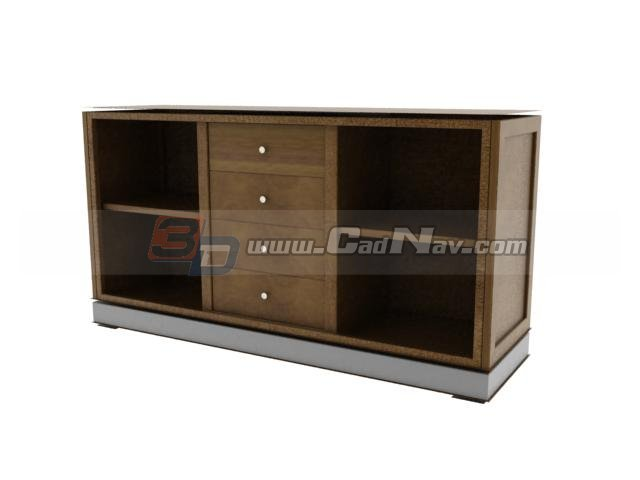 living room side cabinet 3d model 3dmax files free download modeling 4181 on cadnav. Black Bedroom Furniture Sets. Home Design Ideas