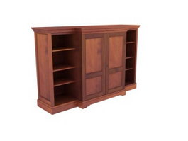 Classical living room side cabinet 3d model