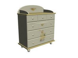 Children Furniture Wall Storage Cabinet 3d model