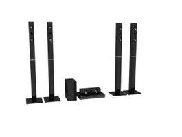 Home theater speaker system 3d model