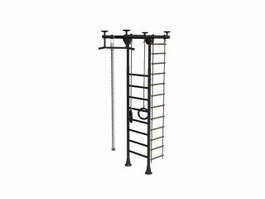 Steel climbing frame 3d model