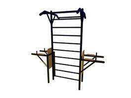Outdoor Gym climbing frame 3d model