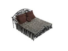 Europe style iron bed 3d model