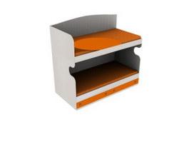School Wood bunk bed 3d model