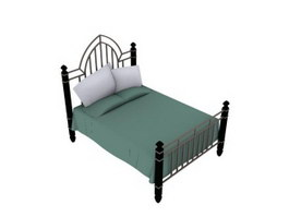 Antique iron bed 3d model