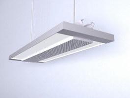 Fluorescent light ceiling lamp 3d model