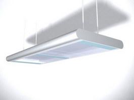 Aluminum fluorescent ceiling lamp 3d model