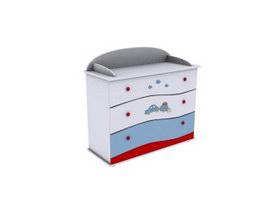 Kids drawer cabinet 3d model