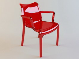 Garden Plastic Leisure Chair 3d model