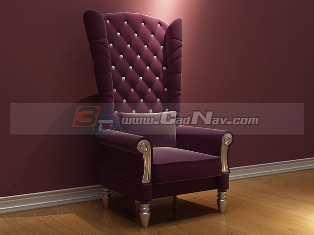 Throne Chair 3d model free download cadnav – Chair Throne