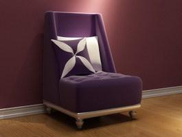 European style sofa chair 3d model