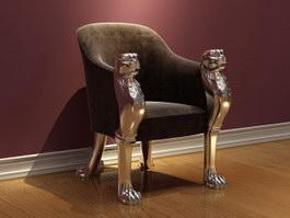 Antique king chair 3d model