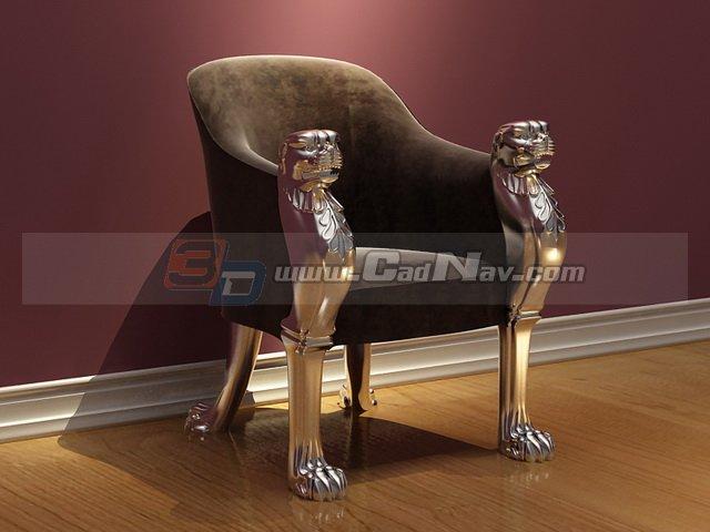 Antique king chair 3d model 3DMax files free download  : 1 130HQJ110646 from www.cadnav.com size 640 x 480 jpeg 42kB