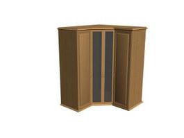 Wooden corner cabinet 3d model