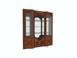 Carved wine cabinet showcase 3d model