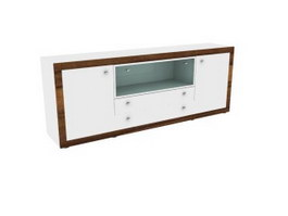 High gloss tv cabinet 3d model