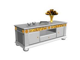 Dining room side cabinet 3d model
