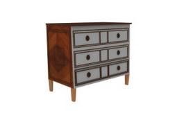 Living Room Decorate Antique Side Cabinet 3d model