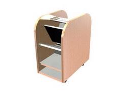 Shoe cabinet rack furniture 3d model