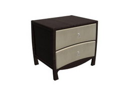 Antique furniture Bedside cabinet for hot 3d model