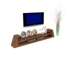 Wall mounted lcd tv stand 3d model
