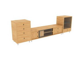 Home combination sideboard 3d model