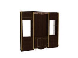 Antique furniture Storage Cabinet 3d model