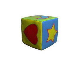 Children Cartoon Storage Stool 3d model
