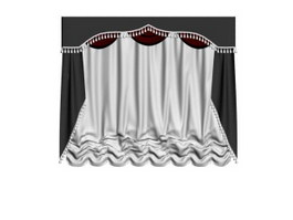 Blackout drapes for wedding 3d model