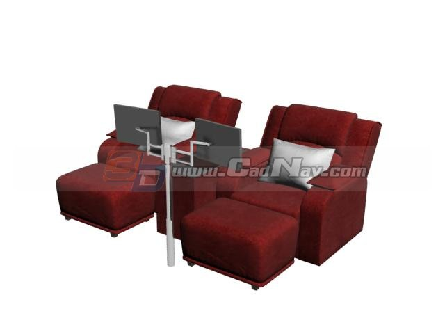Superieur Spa Foot Bath Massage Chairs 3D Model