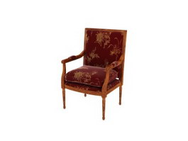 Upholstered Antique Chair 3d model