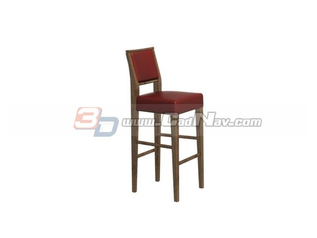 Wooden bar stool high chair 3d model  sc 1 st  CadNav & Wooden bar stool high chair 3d model 3DMax files free download ... islam-shia.org