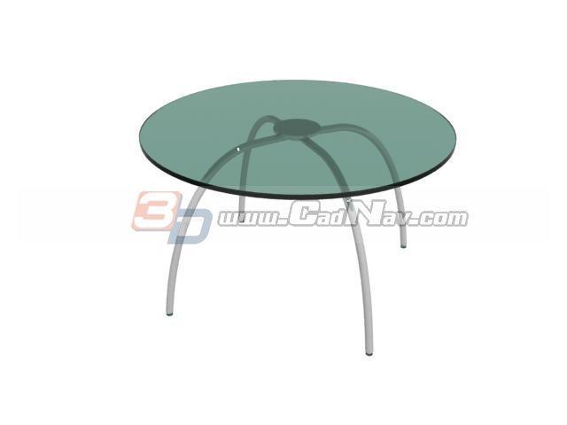 Round glass dining table 3d model 3DMax files free  : 1 130P1094U43Z from www.cadnav.com size 640 x 480 jpeg 14kB