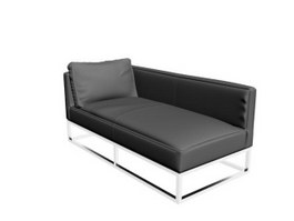 Leather sofa bed 3d model