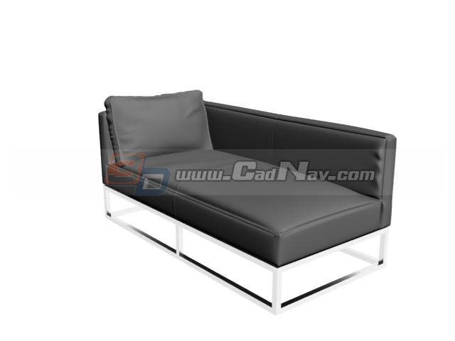 Leather sofa bed 3d model 3dmax files free download for Sofa bed 3d model