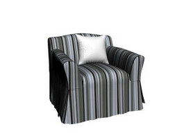 Soft Velvet Fabric Sofa 3d preview
