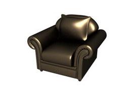 Hotel furniture leather sofa 3d model