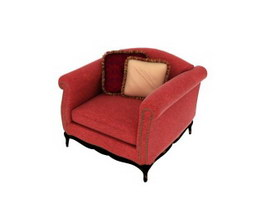 Antique french sofa 3d model