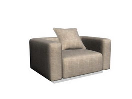 Hotel single seat sofa chair 3d model