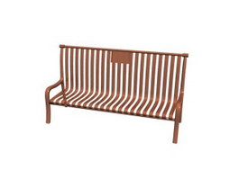 Wood Patio Benches 3d model