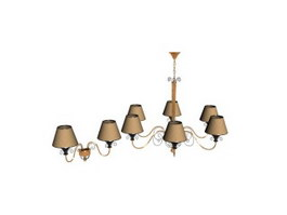 Antique metal pendant lights 3d model