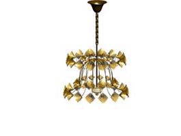 European wrought iron chandelier 3d model