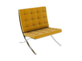 Leather Barcelona Chair 3d model