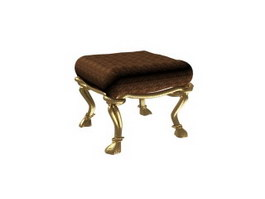 French Antique Ottoman 3d model