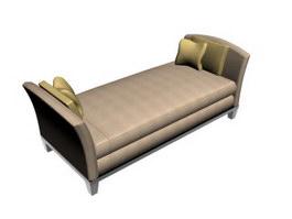 Chaise Lounge ottoman bench 3d model
