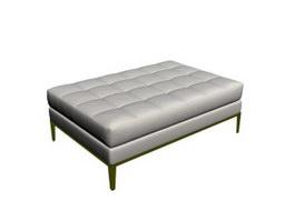 Square ottoman bench 3d model
