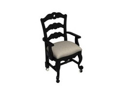 Antique Fauteuil Chair 3d model